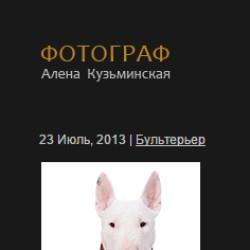 Сайт фотографа Алёны Кузьминской